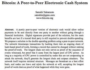 White paper sur le bitcoin