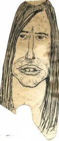 Caricature de Jean-Louis Aubert en 1973 - fournie par Lionel Lumbroso